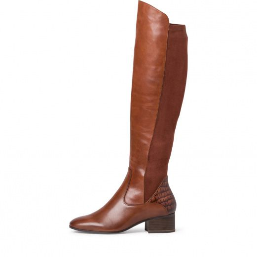 Botte-cuir-marron